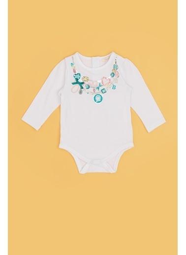 BG Baby Kız Bebek Beyaz Body 20Fw0Bg2511 Beyaz